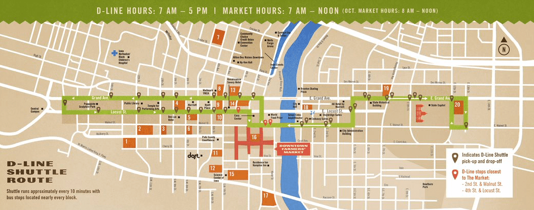 Downtown Farmers Market Map