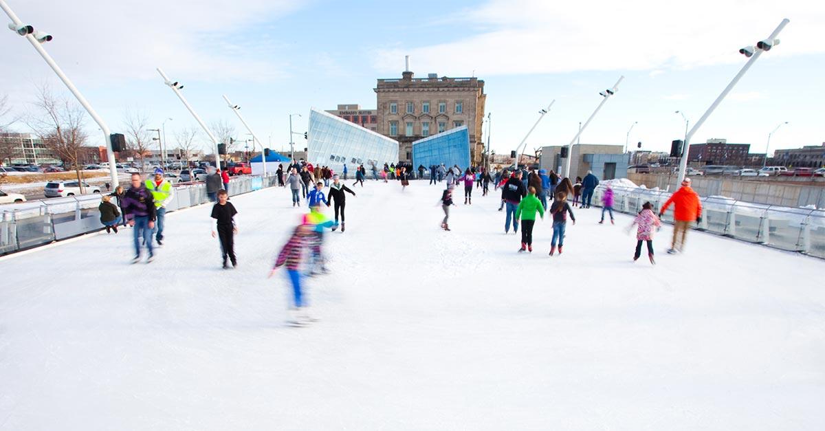 Brenton Skating Plaza in Downtown DSM