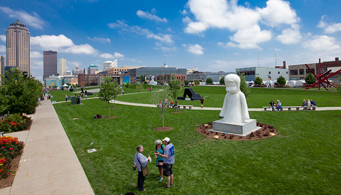 Pappajohn Sculpture Park in Downtown Des Moines