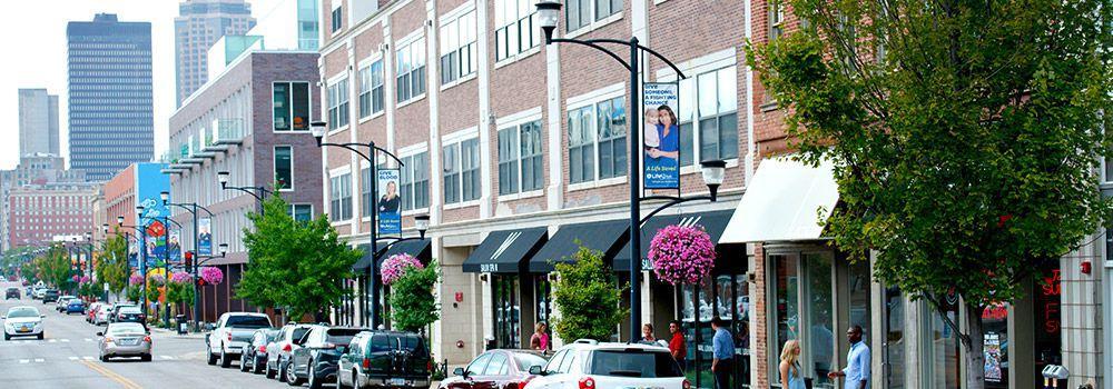 East Village Neighborhood in Downtown DSM USA