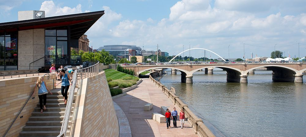 Principal Riverwalk in Downtown Des Moines