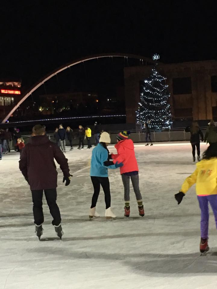 Downtown DSM Ice Skating