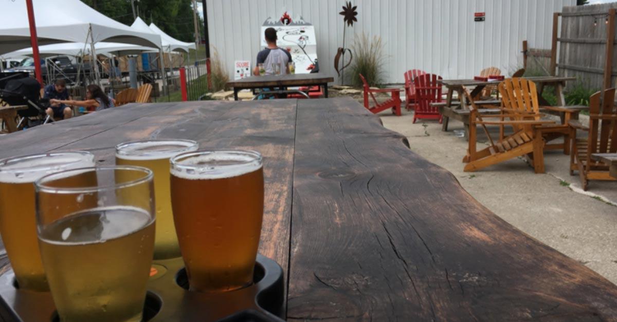 Outside Firetrucker Brewery in DSM USA
