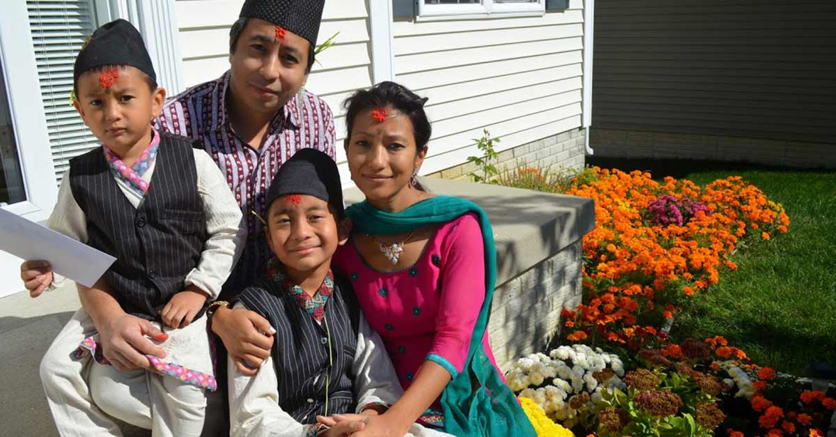 Family Time During Dashain Festival