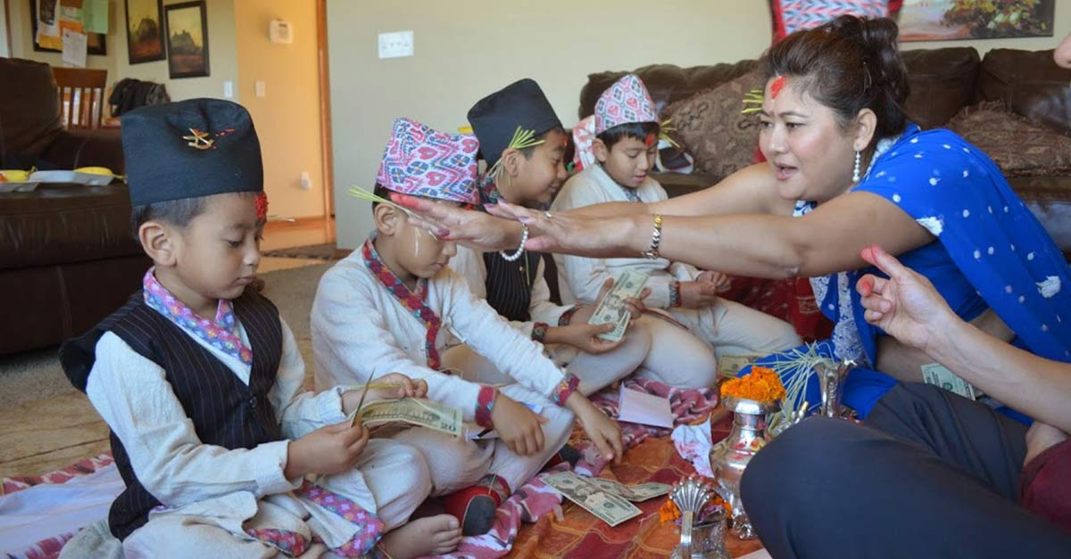 Dashain Festival Family
