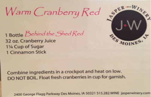 Jasper Winery recipe