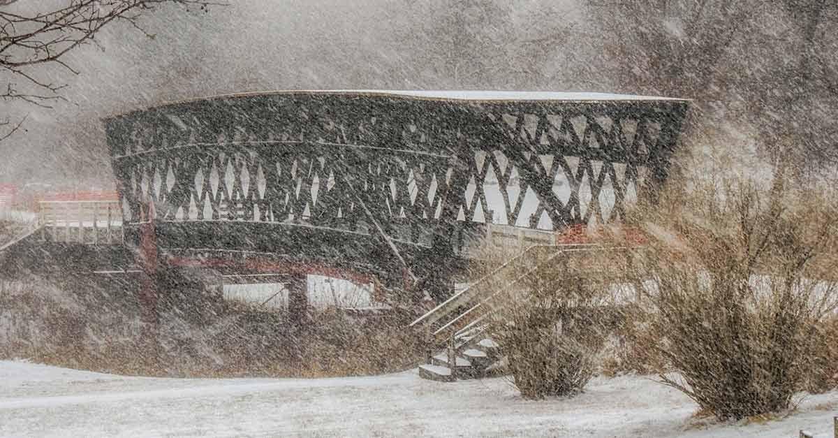 Rebuilding The Cedar Covered Bridge In Madison County Iowa