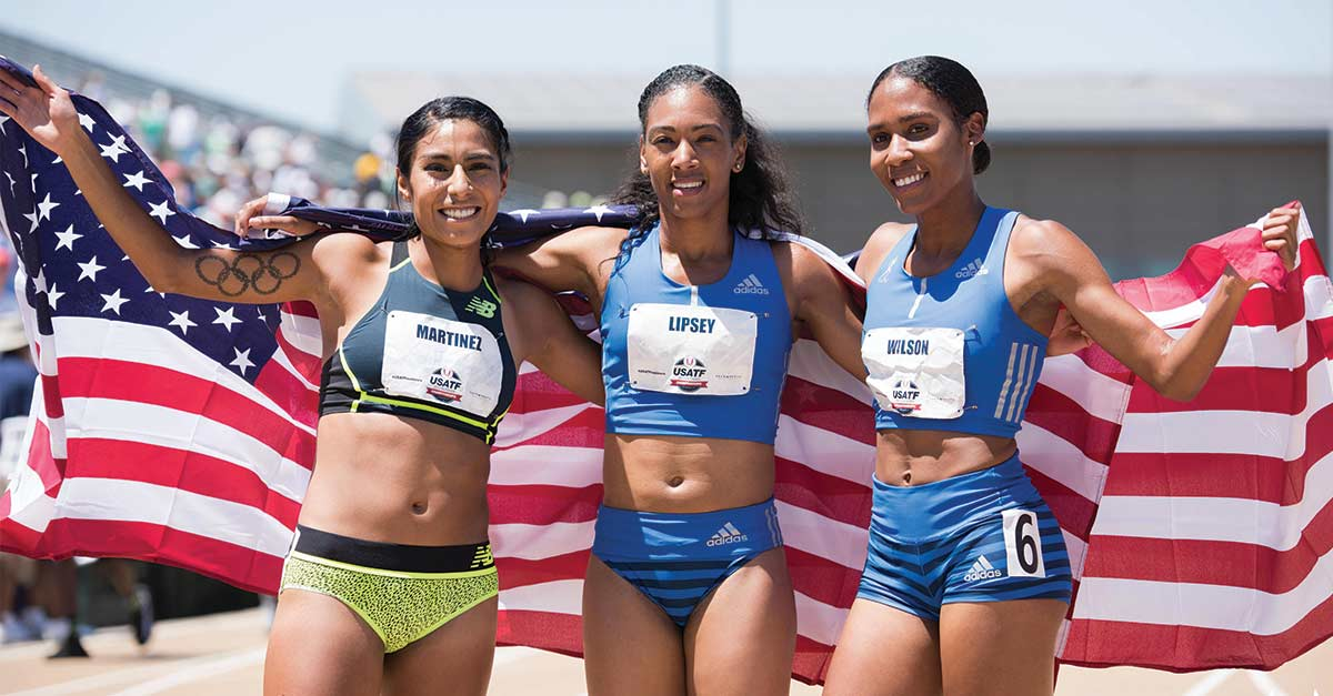 Olympians at Track and Field Championship