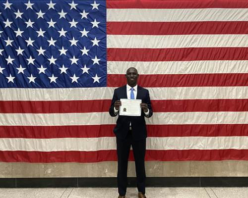Mo Sane Naturalization Ceremony