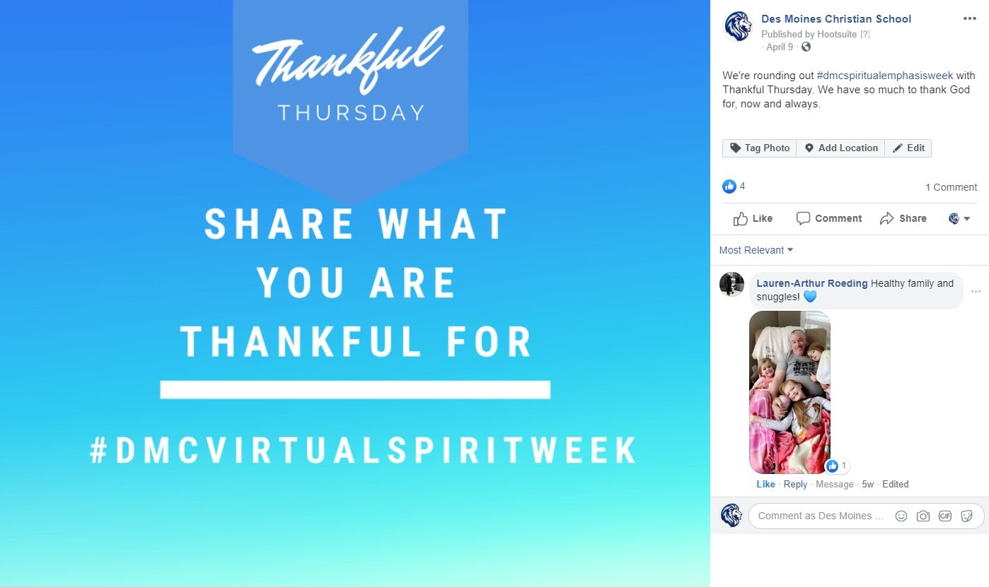 DMC Virtual Spirit Week