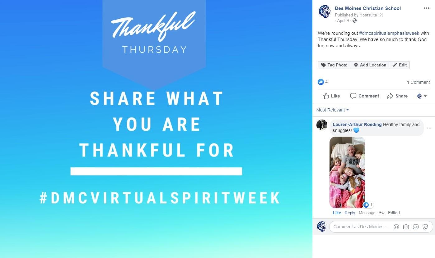 DMC Virtual Spirit Week