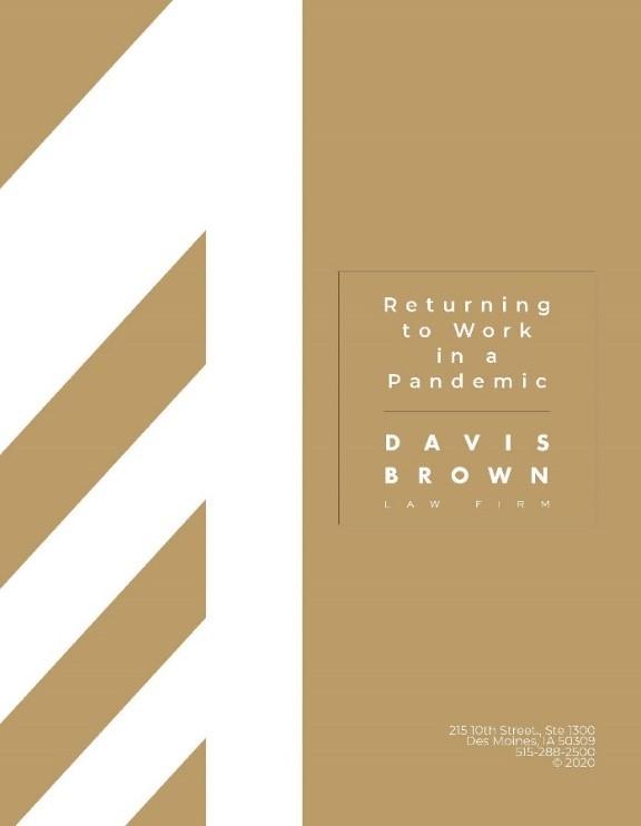 Davis Brown Law Firm Return to Work Document