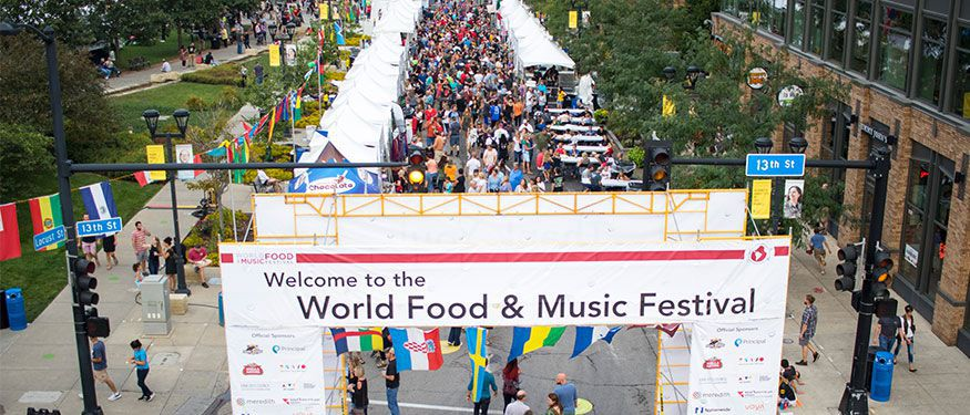 World Food and Music Festival in Downtown DSM USA