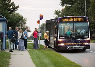 Local bus service in DSM USA